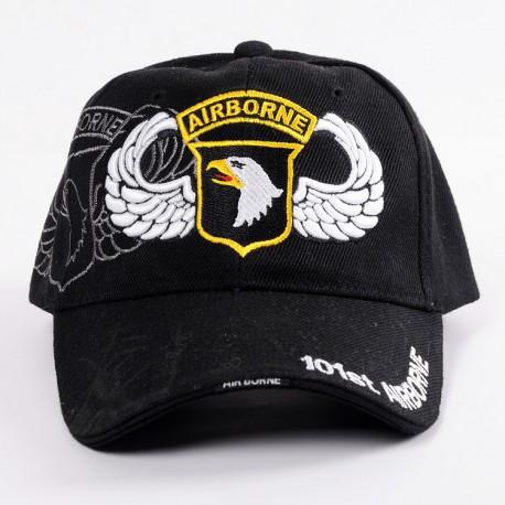GORRA BESIBOL U.S. 101ST AIRBORNE NEGRA