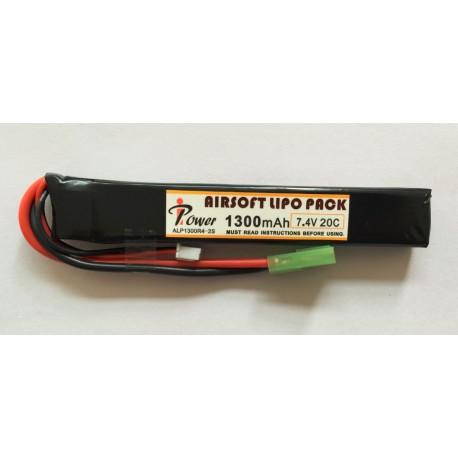 BATERIA LIPO 7.4V 1300 mah 20C TUBO IPOWER