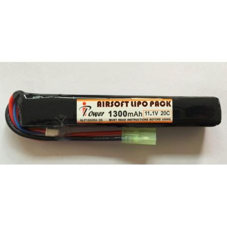 BATERIA LIPO 11.1V 1300mah 20C TUBO
