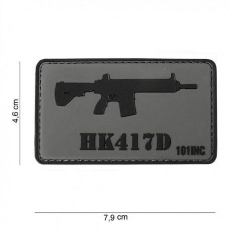 PARCHE PVC 3D HK417D GRIS-NEGRO