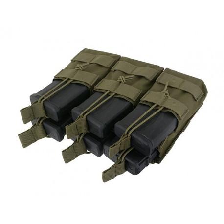 POUCH ABIERTO 6 CARGADORES M4/M16 VERDE OD