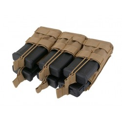 POUCH ABIERTO 6 CARGADORES M4/M16 TAN