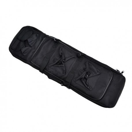 FUNDA RIFLE 100 cm MULTIBOLSILLOS NEGRO
