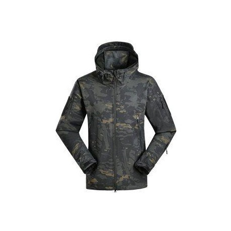 CHAQUETA SHARK SKIN MULTICAM BLACK