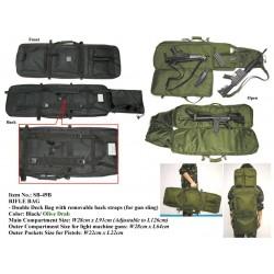 FUNDA TRANSPORTE MIL-FORCE 92CM - 126CM NEGRA