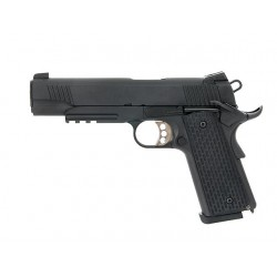 PISTOLA 1911 TACTICAL FULL METAL GBB NEGRO ARMY