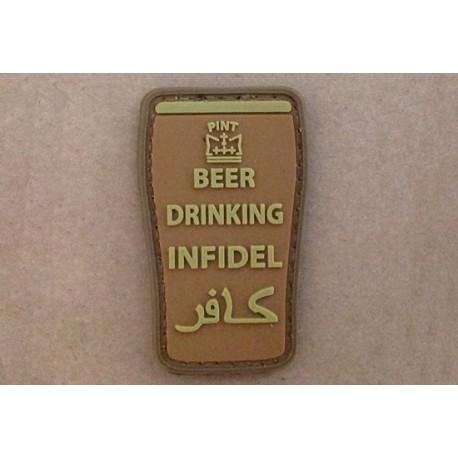 PARCHE 3D -BEER DRINK INFIDEL- COYOTE