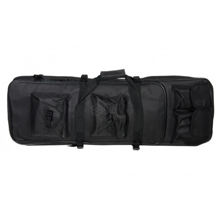 FUNDA RIFLE 85CMS MULTIBOLSILLOS NEGRA DELTA TACTI