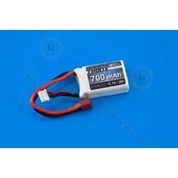 BATERIA LIPO 700 mah 11.1V 20C CONECTOR T-DEAN