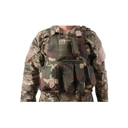 CHALECO TACTICO PLATE CARRIER WOODLAND DELTA TACTI