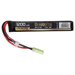 BATERIA LIPO 7.4V 1200 mah 20C DRAGONPRO