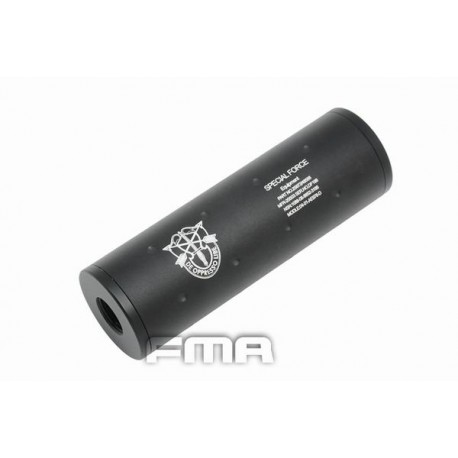 SILENCIADOR FMA SPECIAL FORCE 107 MM NEGRO