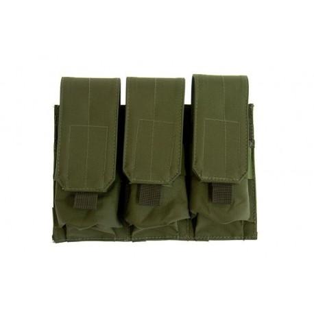 POUCH TRIPLE M4/M16 VERDE OLIVA