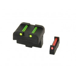 SET DE MIRAS DE FIBRA OPTICA PARA GLOCK APS